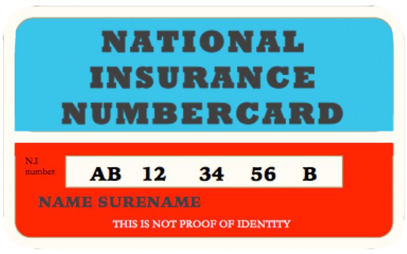 National Insurance Card Jobcentre